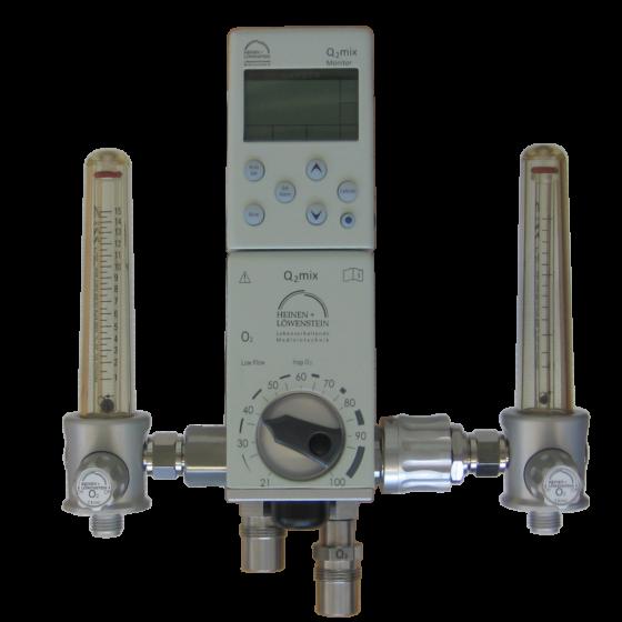 Mischer mit Monitor + 2 Flowmetern